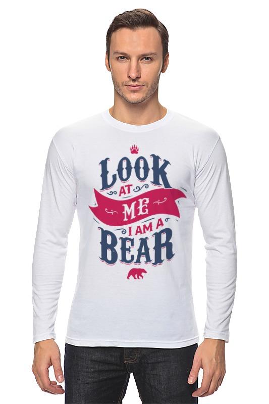 Лонгслив Printio Я медведь (i am bear) майка классическая printio я медведь i am bear