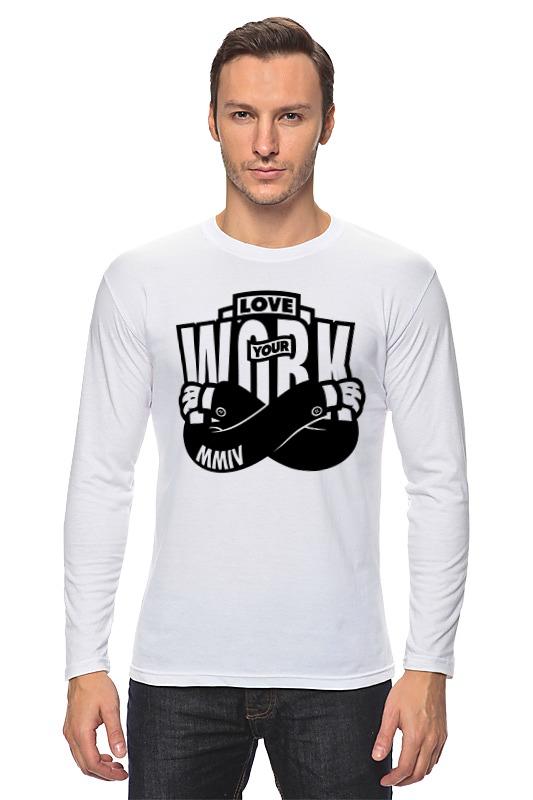 Лонгслив Printio Люби свою работу (love your work) футболка классическая printio люби свою работу love your work