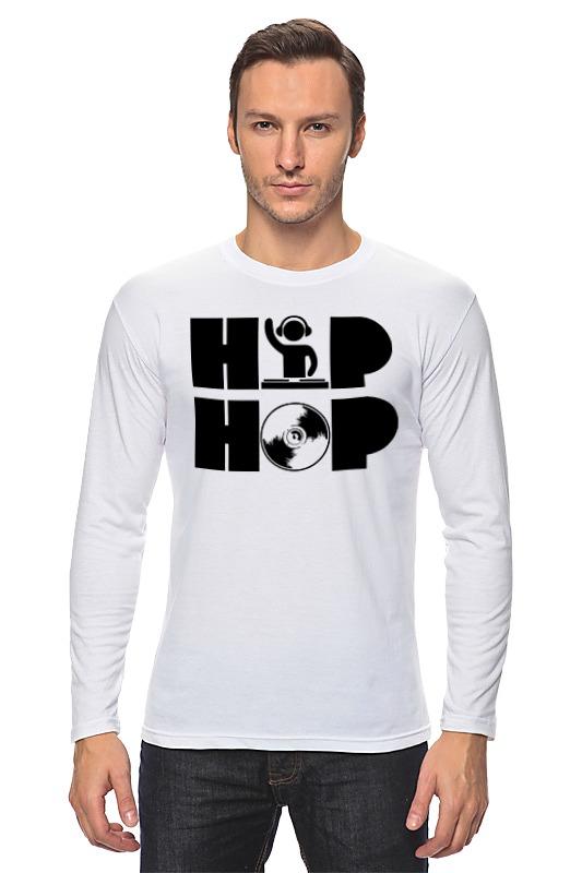 Лонгслив Printio Хип хоп hpolw mens нержавеющей стали винтаж хип хоп панк скелет готический племенных креста череп кольцо черный серебра