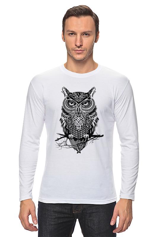 Лонгслив Printio Оld owl owl design pendant necklace