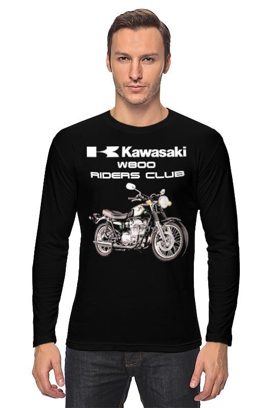 Лонгслив Printio Kawasaki w800 kawasaki kawasaki бадминтон обучение обучение уровень 9