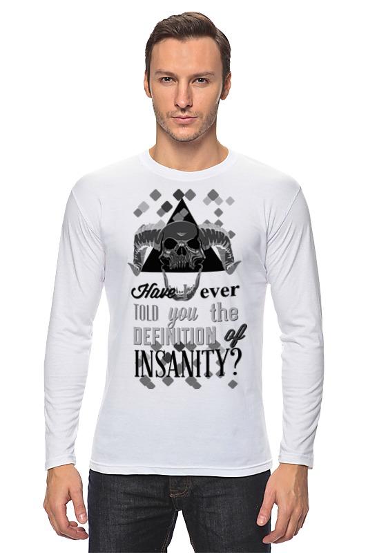Лонгслив Printio Insanity - безумие футболка wearcraft premium slim fit printio insanity безумие