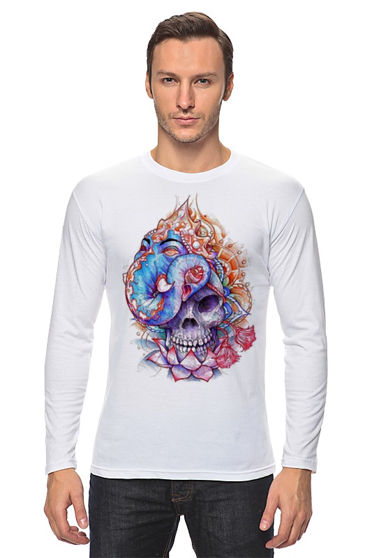 Лонгслив Printio Skull art худи print bar skull