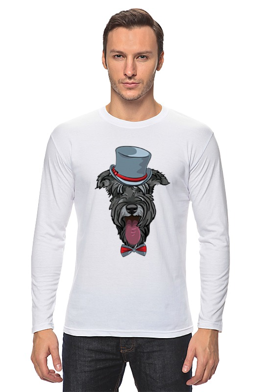 Лонгслив Printio Шнауцер как купить собаку в новосибирске породы ризеншнауцер без документов