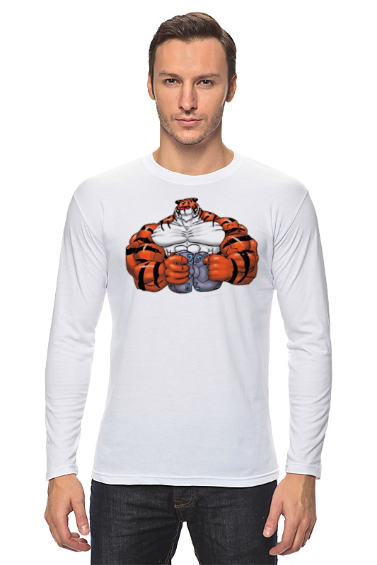 Лонгслив Printio Тигр культурист win 179 хот шот бол сереб символ года тигр 800191