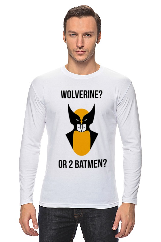 Лонгслив Printio Wolverine or batmen