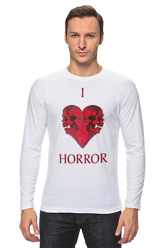 Лонгслив Printio I love horror лонгслив printio i love you beary much