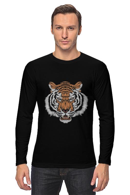 Лонгслив Printio Взгляд тигра наборы для рисования цветной картины по номерам взгляд тигра