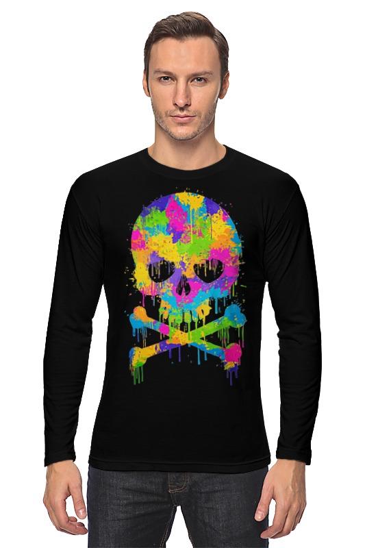 Лонгслив Printio Череп (skull) лонгслив printio low poly skull