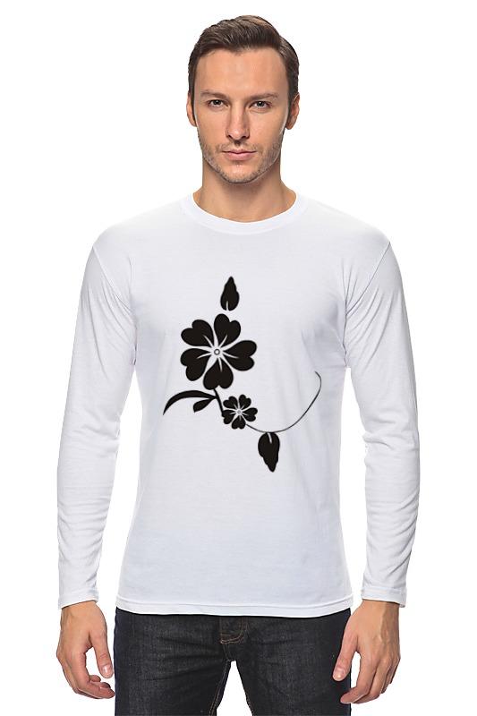 Лонгслив Printio Черный цветок кардиган strellson кардиганы длинные