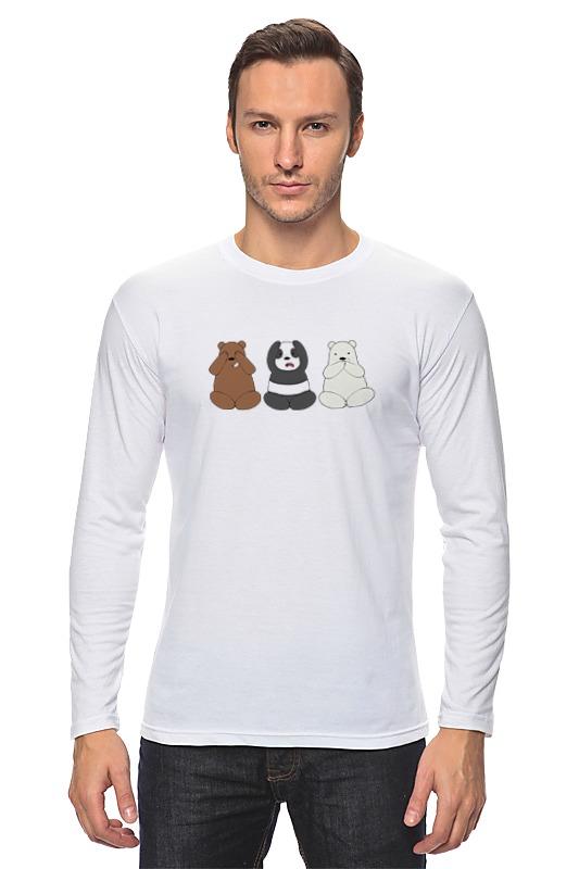 Лонгслив Printio Медведи и панда