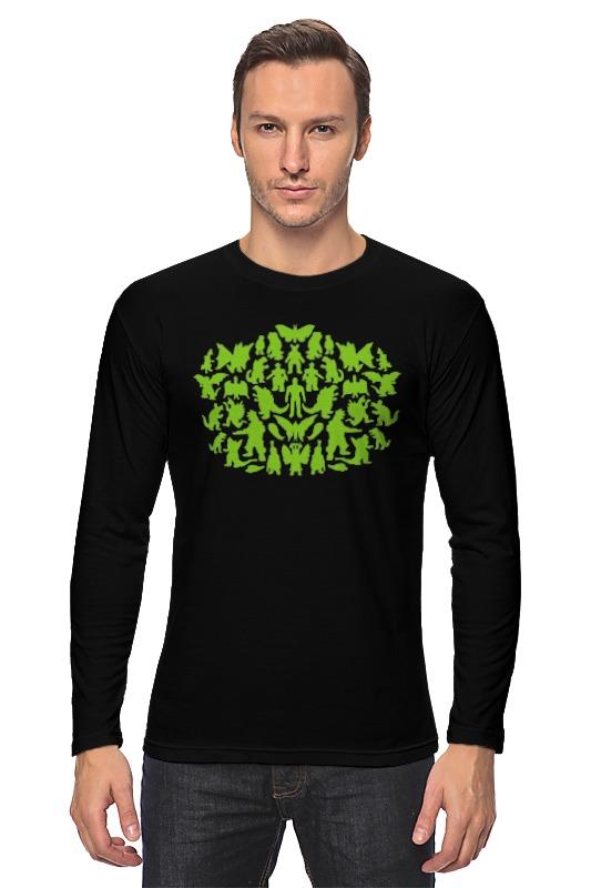 Лонгслив Printio Шелдон купер - зеленые монстры детская футболка классическая унисекс printio шелдон купер зеленые монстры