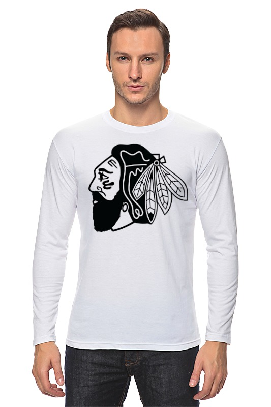 Лонгслив Printio Индеец (чикаго блэкхокс) футболка print bar chicago blackhawks