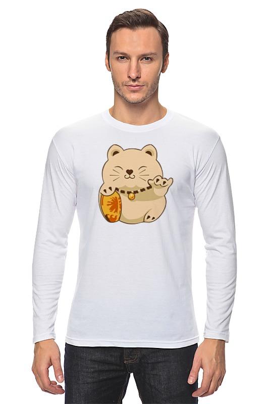 все цены на Лонгслив Printio Манэки-нэко (кот счастья) онлайн