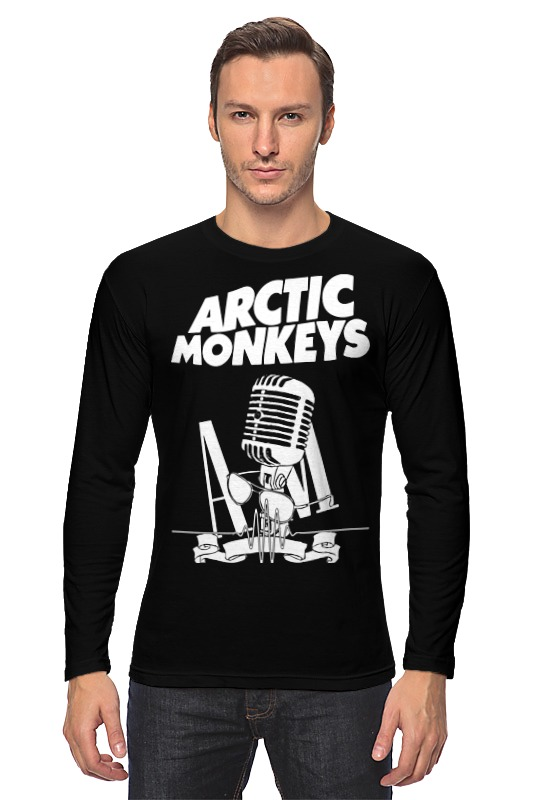 Лонгслив Printio Arctic monkeys plus size printed empire waist peplum top