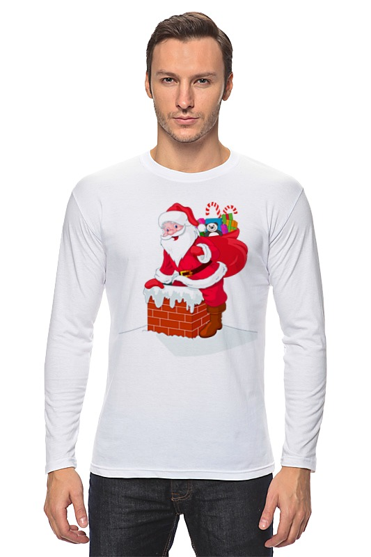 Лонгслив Printio Дед мороз с подарками кружка easy life новогодняя коллекция дед мороз с подарками 350 мл