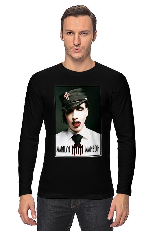 Лонгслив Printio Marilyn manson женская одежда