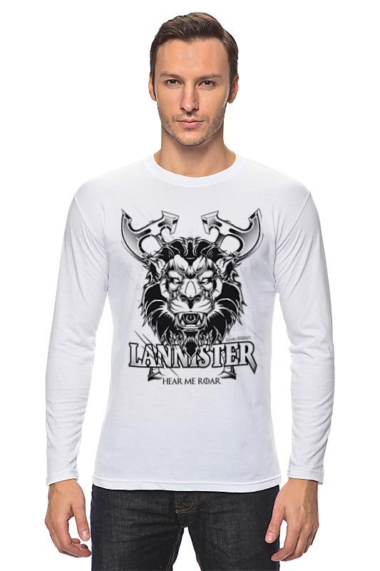 Лонгслив Printio Лев ланнистеров (игра престолов) футболка wearcraft premium printio игра престолов