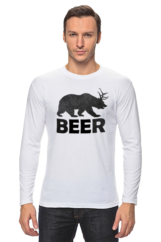 Лонгслив Printio Beer (bear) сумка printio beer bear