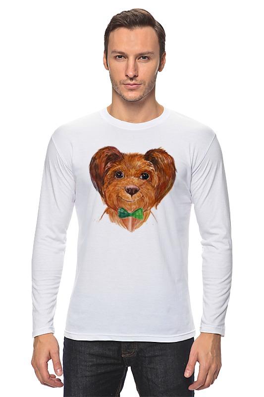 Лонгслив Printio Собака футболка классическая printio акварельная новогодняя забавная собака