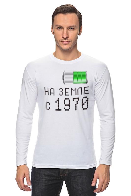 Лонгслив Printio На земле с 1970 футболка wearcraft premium printio на земле с 1970