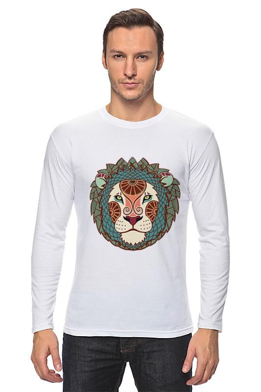 Лонгслив Printio Гламурный лев майка классическая printio гламурный лев