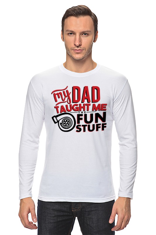 Лонгслив Printio My dad (fun stuff) футболка wearcraft premium printio my dad fun stuff