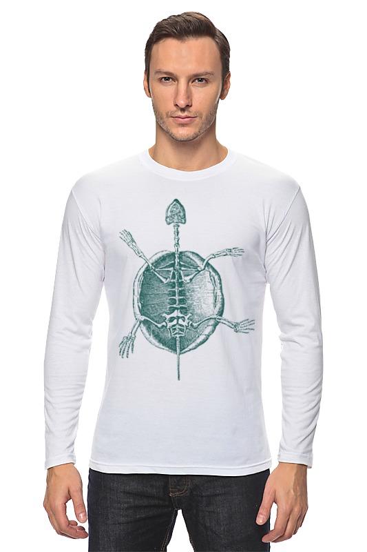 Лонгслив Printio Скелет черепахи терариум для красноухой черепахи в королеве