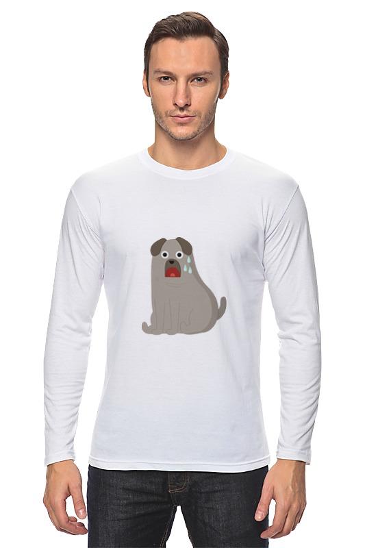 Лонгслив Printio Грустный пёс майка классическая printio грустный пёс