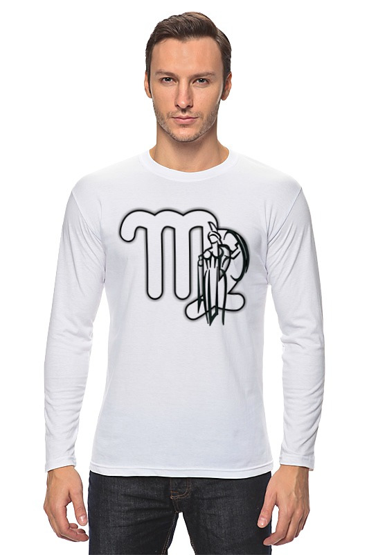 Лонгслив Printio Знак зодиака дева. футболка классическая printio знак зодиака дева
