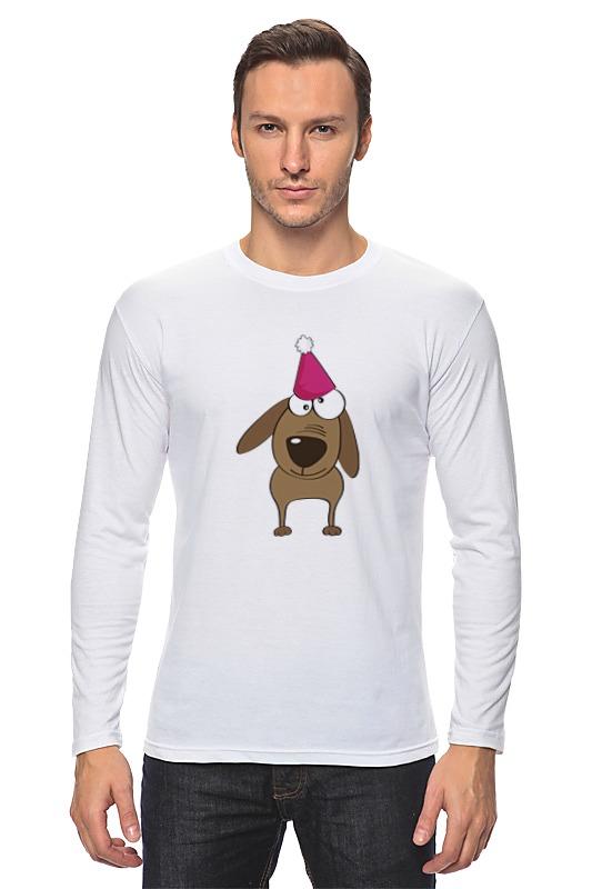 Лонгслив Printio Весёлый щенок футболка wearcraft premium slim fit printio радужный кот