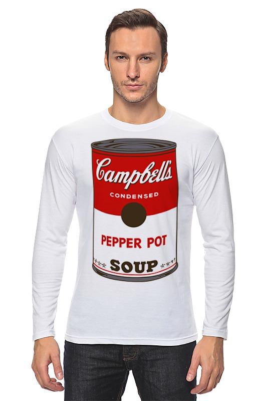 Лонгслив Printio Campbell's soup (энди уорхол) кэмпбелл анна обольститель и куртизанка