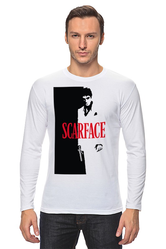 Лонгслив Printio Лицо со шрамом (scarface) футболка wearcraft premium printio тони монтана лицо со шрамом