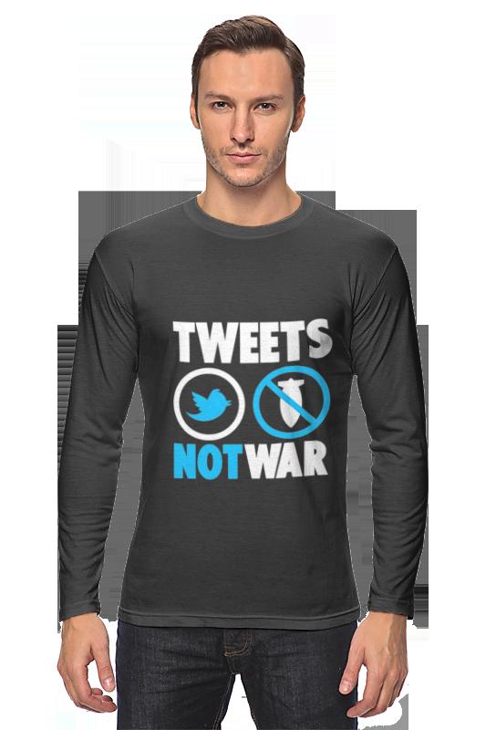 Лонгслив Printio Tweets not war лонгслив printio i m not 45