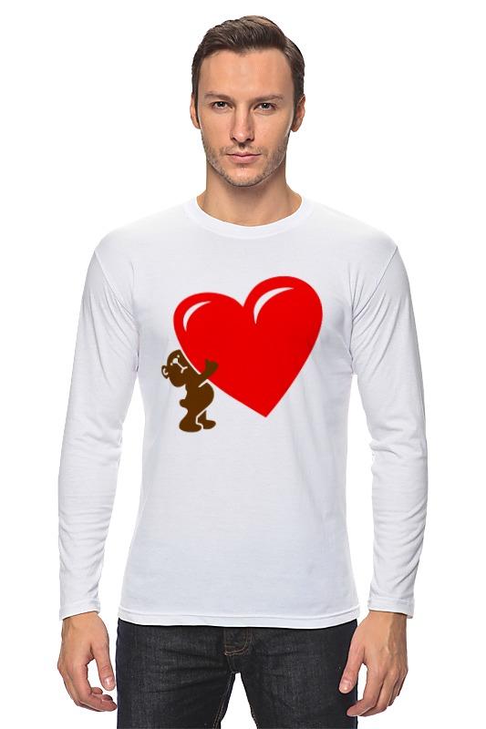 Лонгслив Printio Bear heart large 120cm teddy bear plush toy hug love heart plush bear doll soft throw pillow christmas birthday gift x046