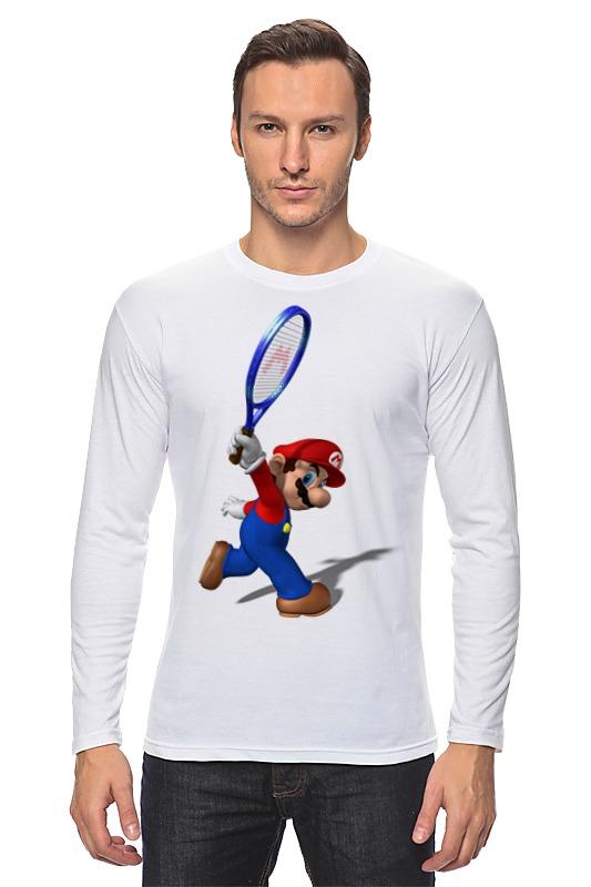 Лонгслив Printio Super mario tennis authentic qiangli 8986 tennis tenis masculino full carbon fiber tennis racket raquetas de tenis raquete de tenis
