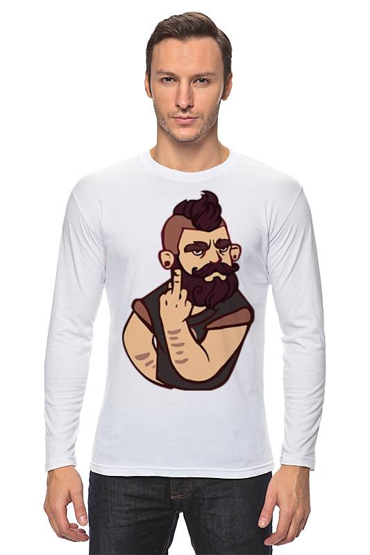Лонгслив Printio Bearded / бородач обложка для паспорта printio bearded бородач