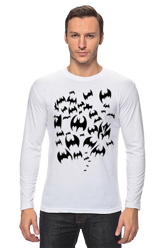 Лонгслив Printio Летучие мыши (бэтмен)