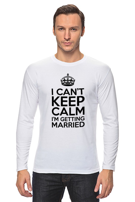 Лонгслив Printio I cant keep calm i am getting married цена и фото