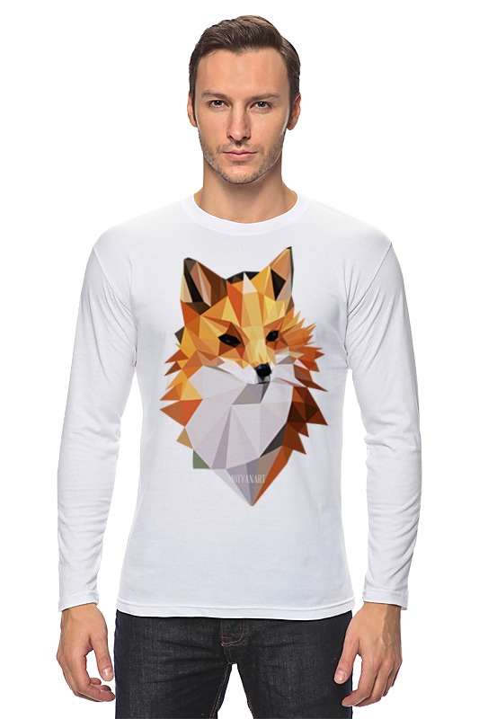 Лонгслив Printio Poly fox