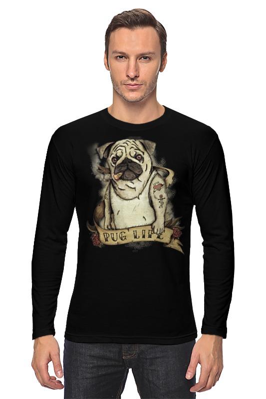 Лонгслив Printio Жизнь мопса купить щенка мопса в одессе