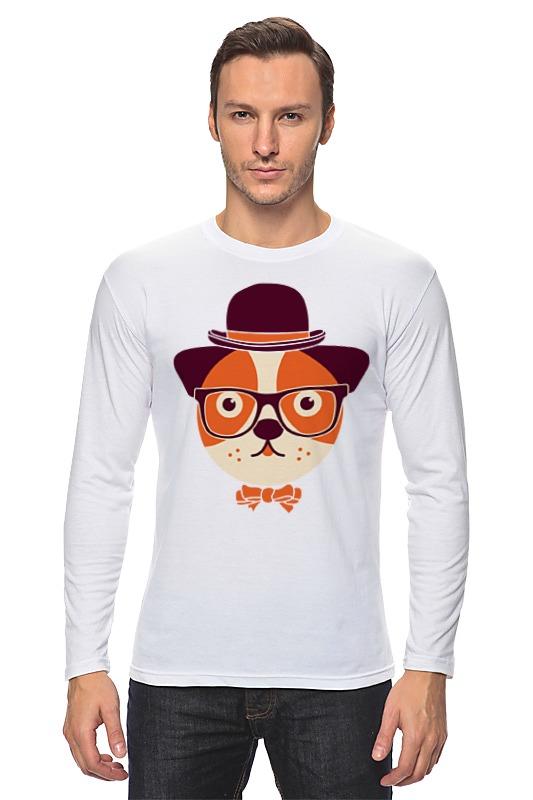Лонгслив Printio Собака в очках совы в очках