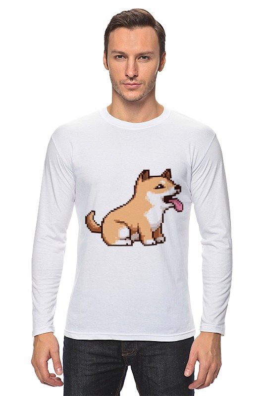 Лонгслив Printio Пиксельная собачка