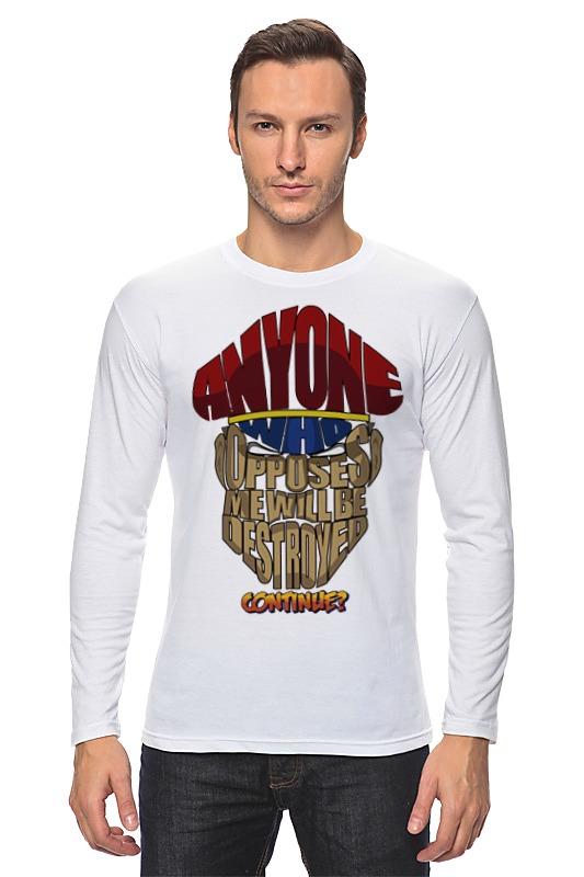 Лонгслив Printio М. байсон (уличный боец) футболка классическая printio м байсон