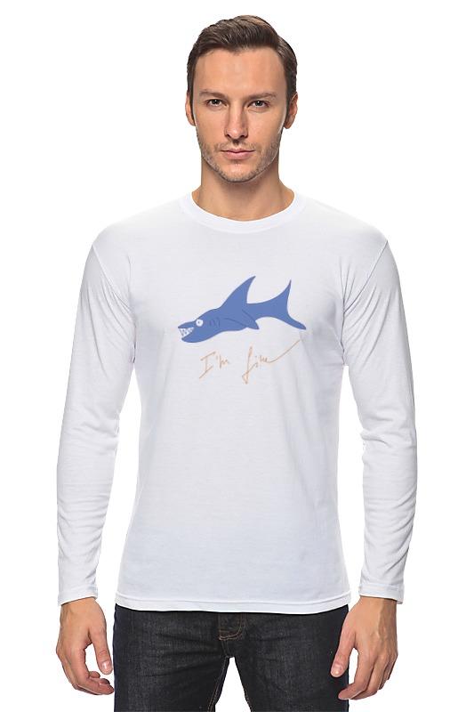 Лонгслив Printio Акула новые приобретения пол акула акула кашемир сгущаться мужской свитер