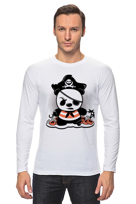 Лонгслив Printio Панда пират