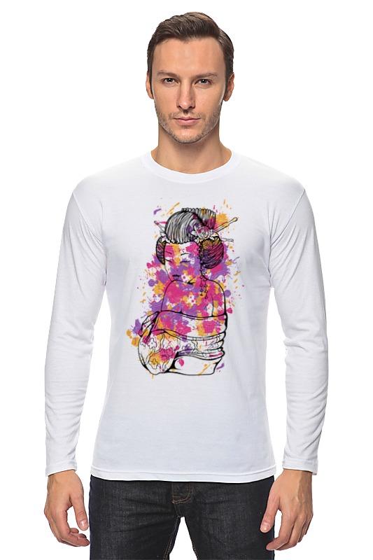 Лонгслив Printio Гейша футболка с полной запечаткой printio гейша