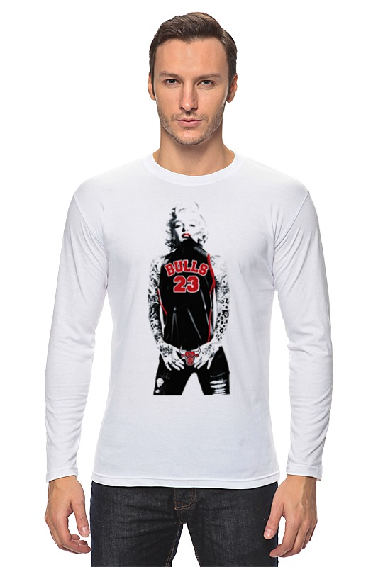 Лонгслив Printio Chicago bulls marilyn monroe велосипед bulls tokee runner boy 2014