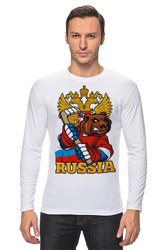 Лонгслив Printio Russian bear russian phrase book