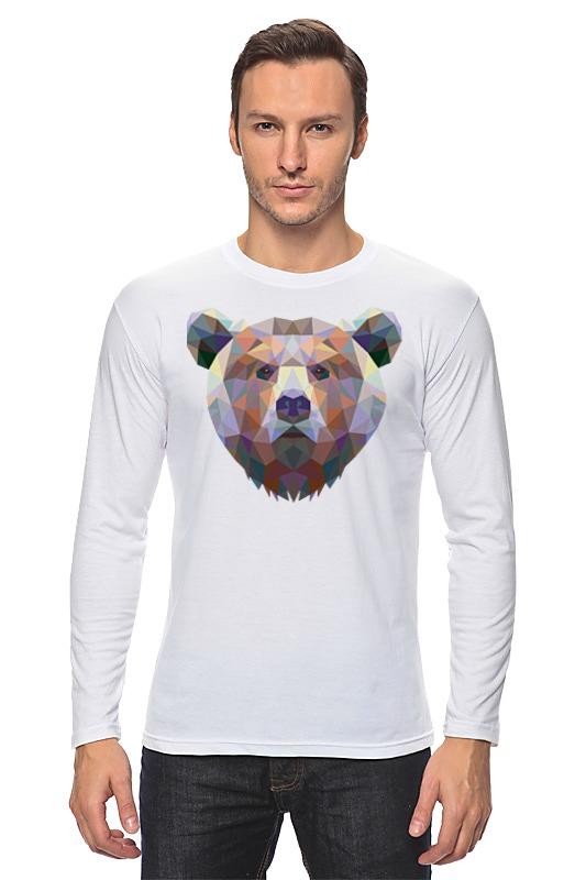 Лонгслив Printio Полигональный медведь цена